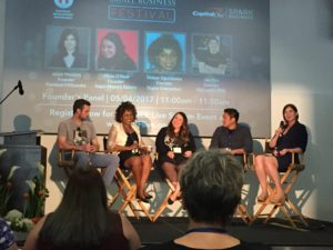 panel discussion at Small Business Festival, Austin