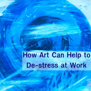 blue circle - how art can help to de-stress at work