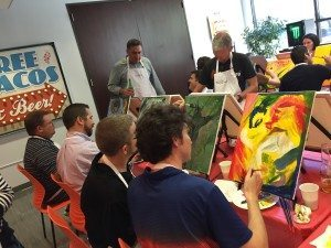creative painting — Austin corporate team building