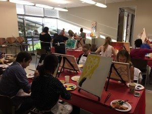 group painting at corporate event