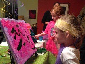 parent-kid painting