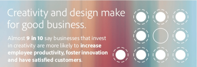Creativity is good for business